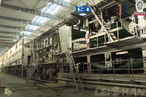 Kraft liner board machine
