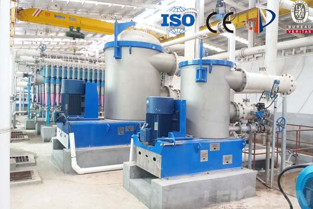 Paper pulping line