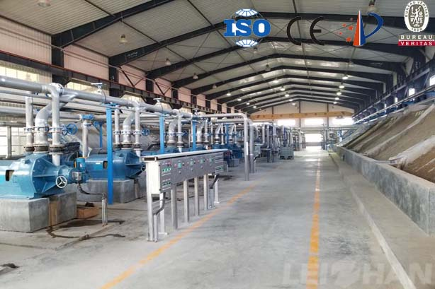 Waste paper stock preparation line